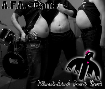 A.F.A.-Band bei ihrer Lieblingsbeschäftigung (neben Biertrinken)